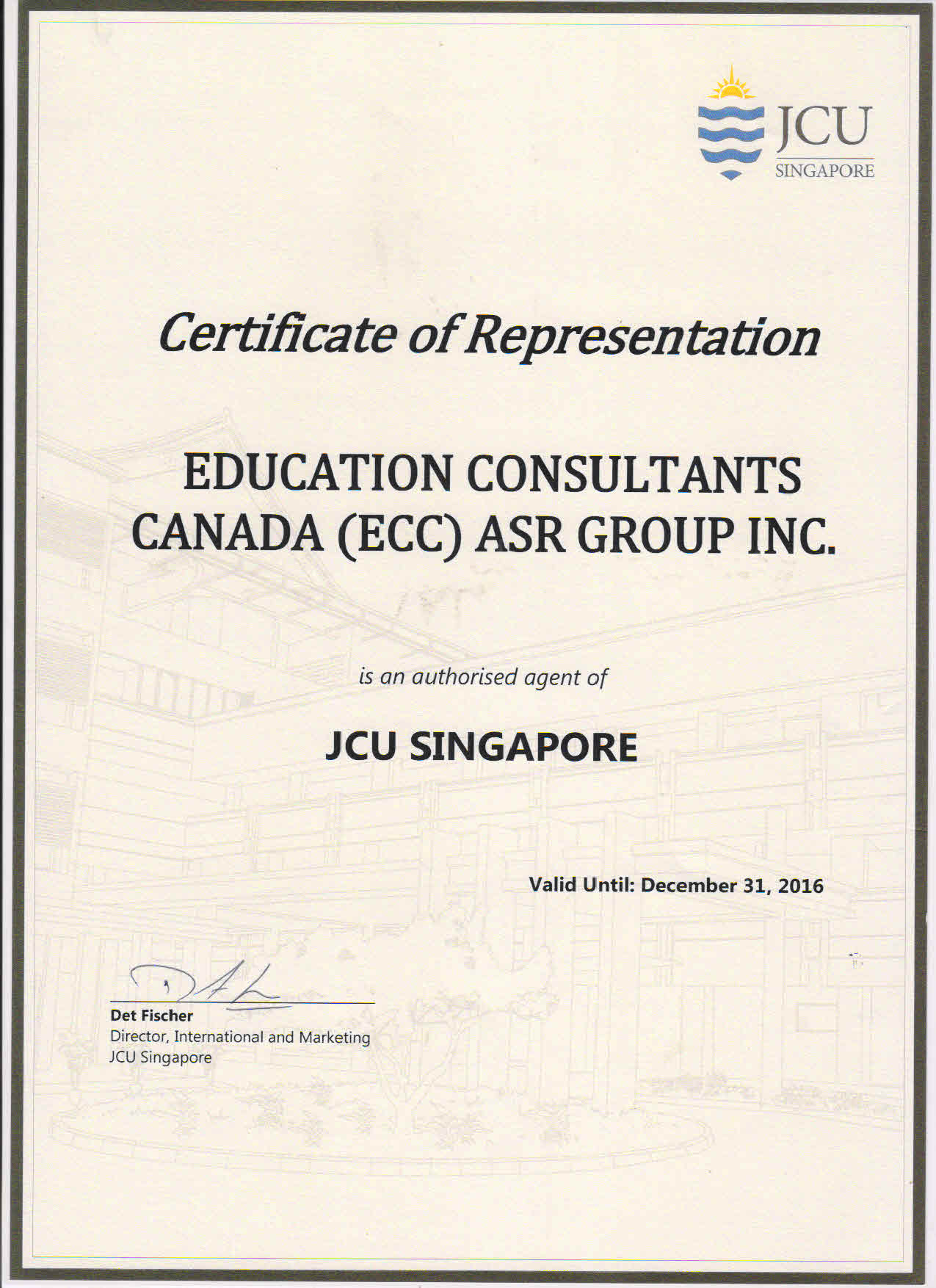 Education Consultants Canada Authorized Recruiter of James Cook University for the qualified international students