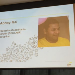 Abhay Rai - EY Entrepreneur Award Function - Education Consultants Canada