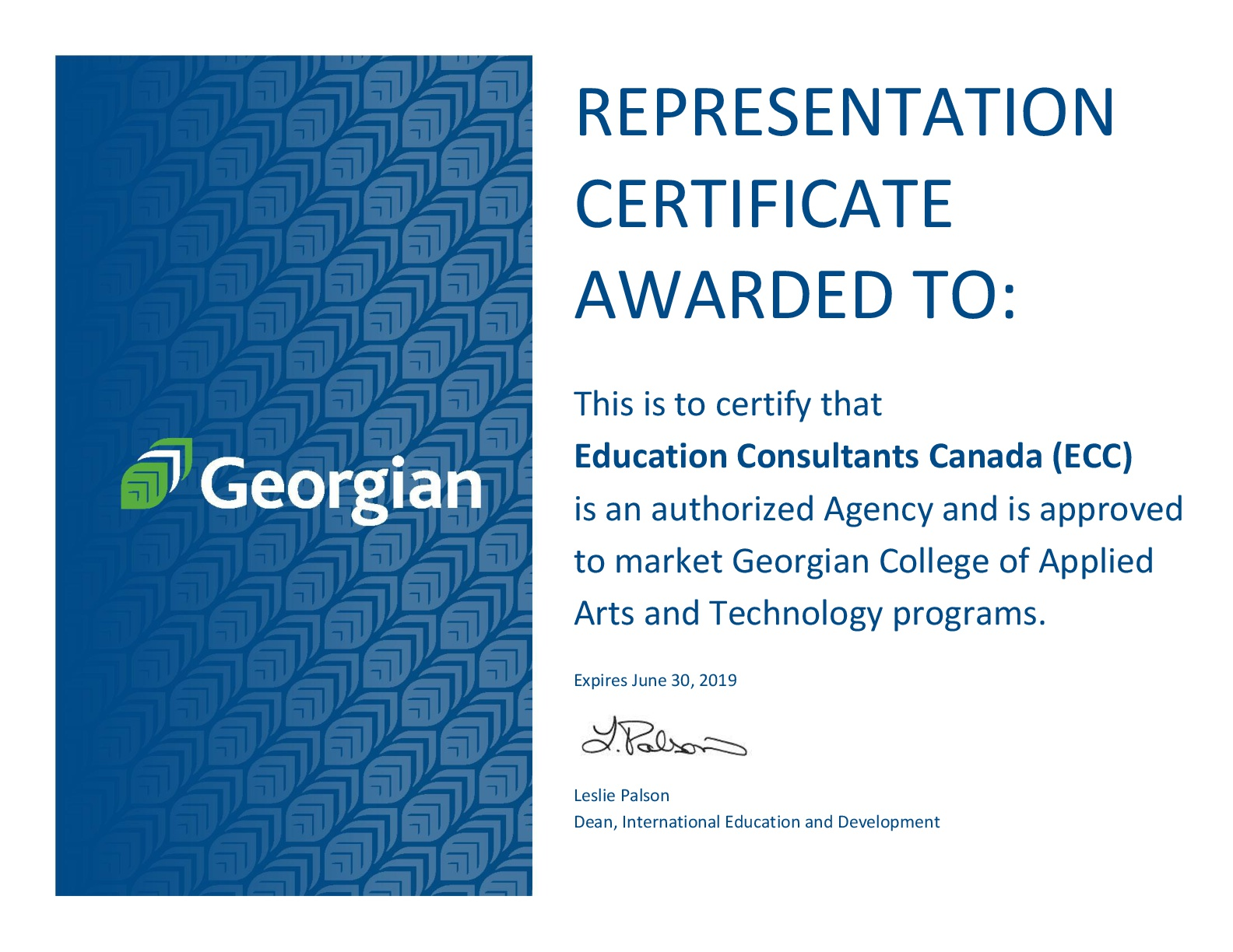 Education Consultants Canada Authorized recruiter of Georgian College for international students recruitment