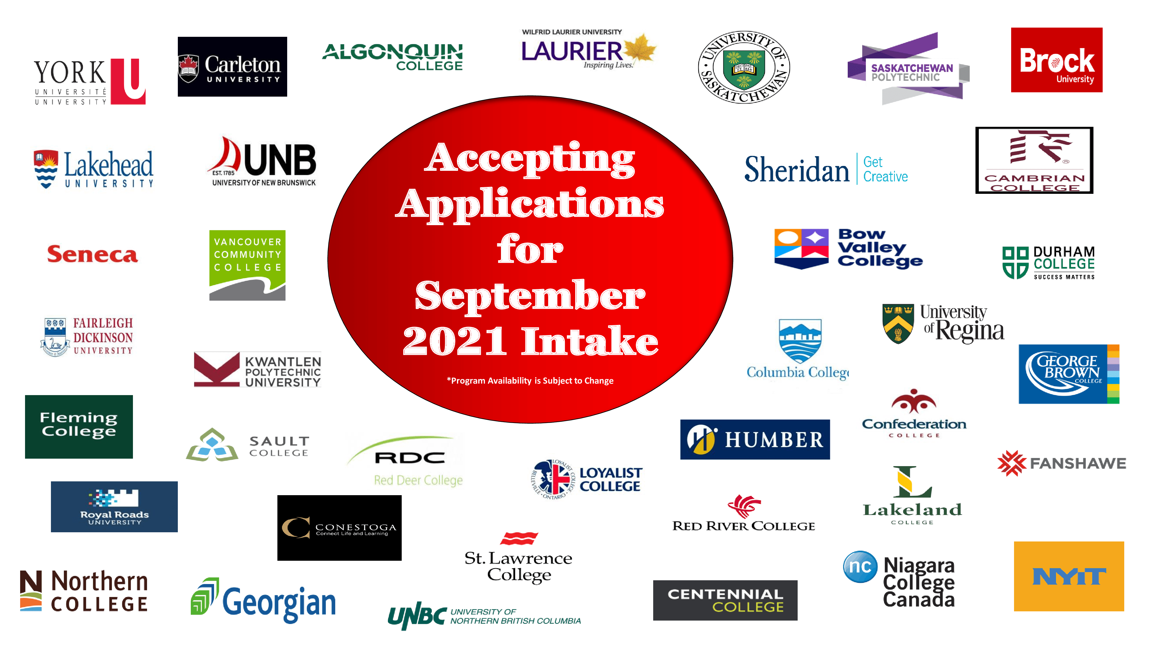 Apply for September 2021 Intake in Canada
